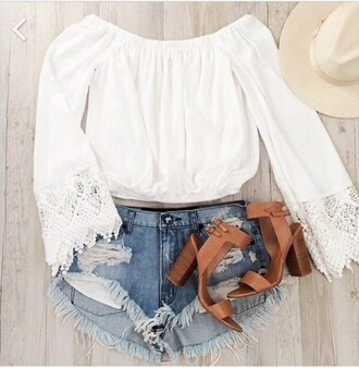 blouse top white fashion clothes tumblr outfit tumblr clothes lace lace top