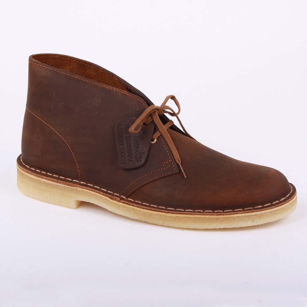 Clarks Originals Desert Leather Shoes Brown
