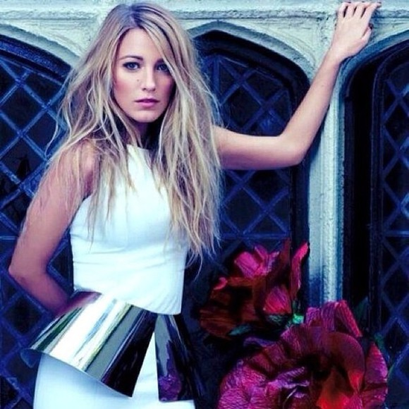 blake lively prom dress dress gossip girl mini dress white dress white peplum dress peplum dress