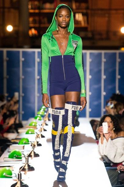 4fa330fb0bd romper hoodie shorts runway boots fashion week 2017 Paris Fashion Week 2017  fenty x puma