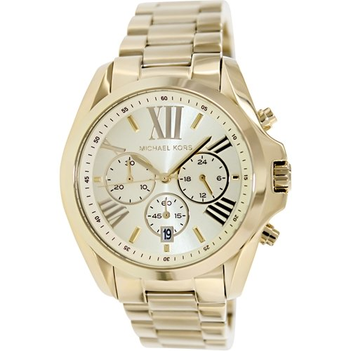 Michael Kors Men's MK5605 Gold Stainless-Steel Quartz Watch with Gold Dial