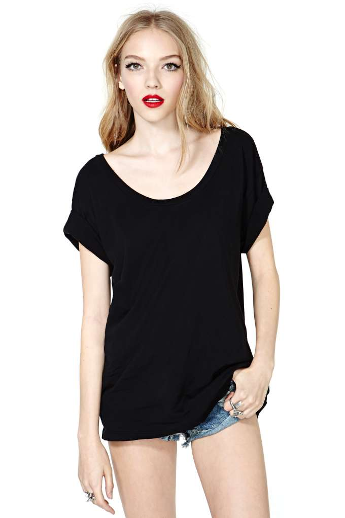 Nasty Gal New Boyfriend Tee - Black | Shop Tops at Nasty Gal