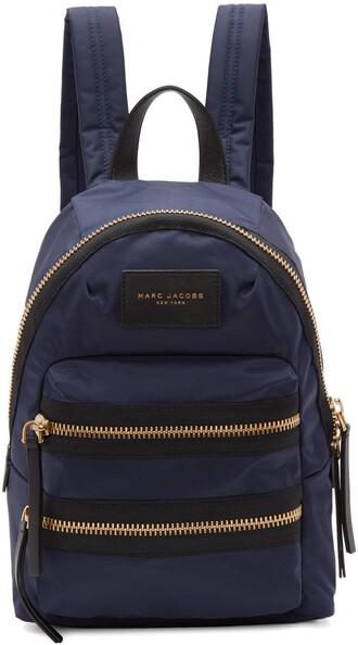 mini backpack navy bag