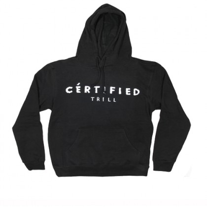 DOPE COUTURE CERTIFIED TRILL HOODIE - BLACK
