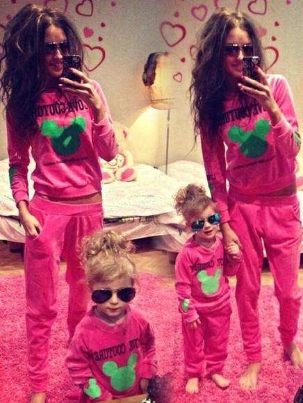 pink pink sunglasses jumpsuit velvet velour sweatsuit tracksuit sweatsuit jacket longsleeve
