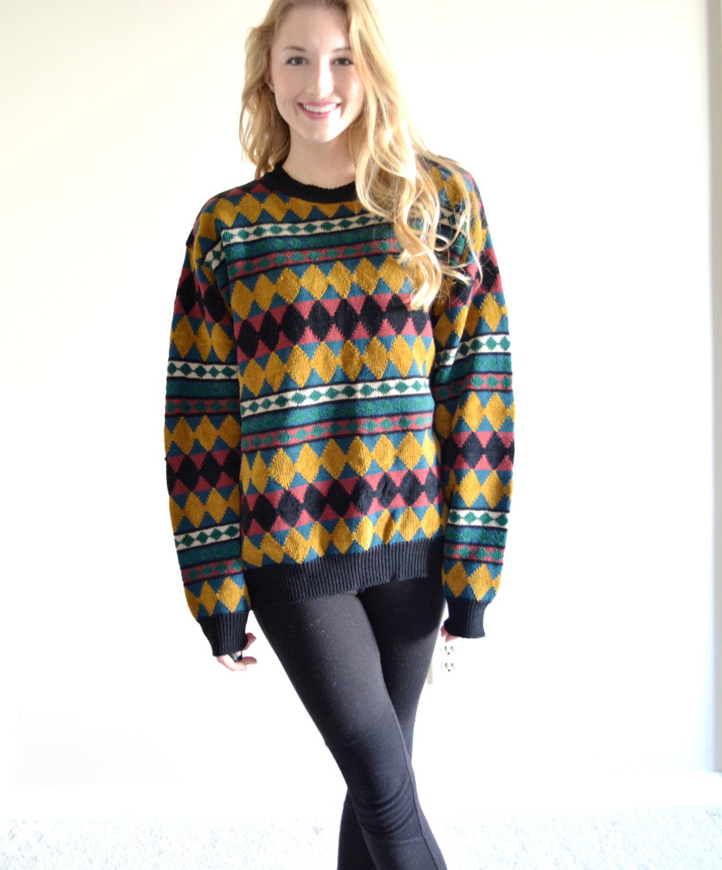 5f97a431e68e Vintage Saks Fifth Avenue Deadstock Bohemian Sweater Colorful ...