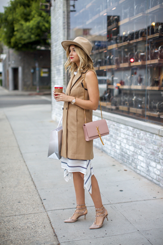 late afternoon blogger jacket dress shoes bag jewels hat