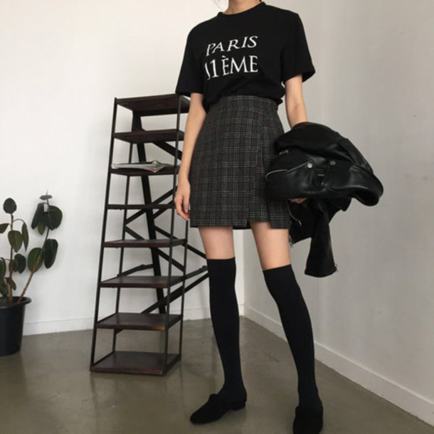 Aesthetic Plaid Skirt - Shop for Aesthetic Plaid Skirt on Wheretoget