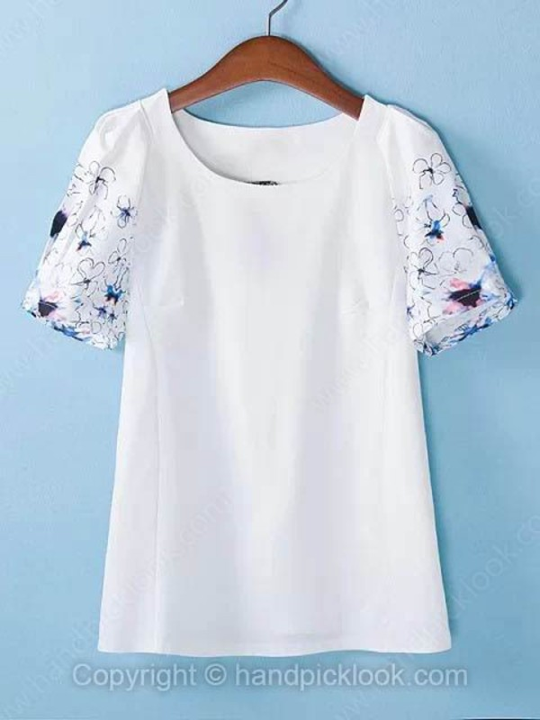 top floral t-shirt dress white t-shirt t-shirt