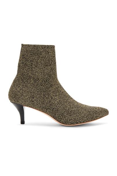 Loeffler Randall knit metallic gold shoes