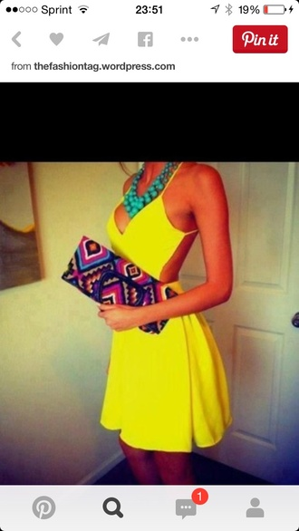 dress neon backless dress