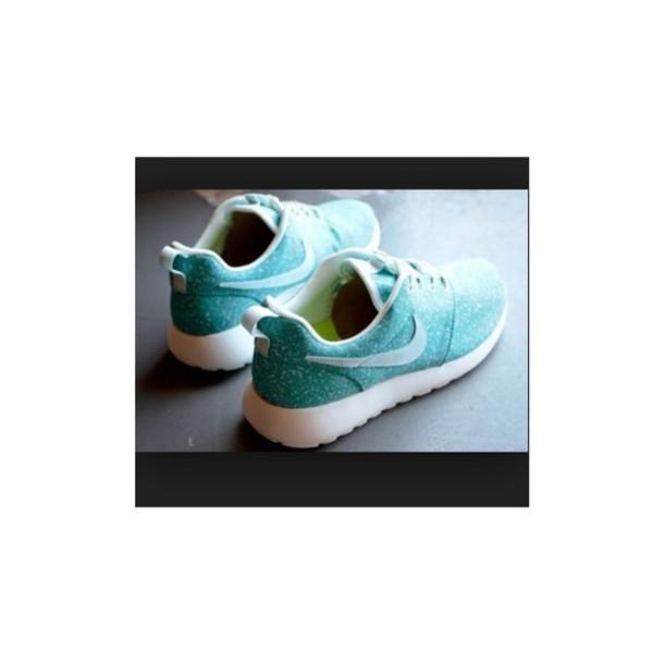 shoes nike roshe run mint