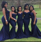 dress,bridesmaid,navy dress,mermaid dresses