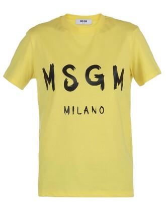 t-shirt shirt cotton t-shirt cotton yellow top
