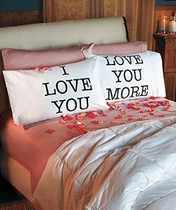 Love you & love you more pillowcases: v