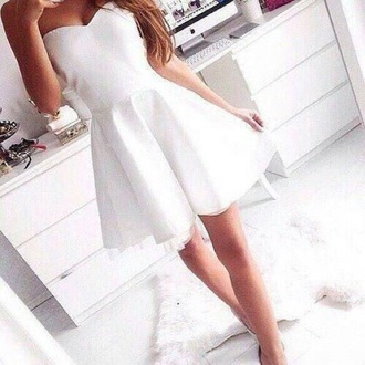dress white dress short dress
