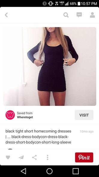 dress tight short black