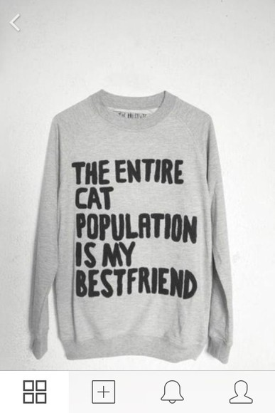 sweater fall sweater cats quote on it