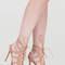Lace 'em up faux suede heels mauve black nude - gojane.com
