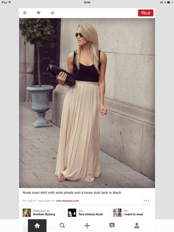 skirt maxi skirt nude flowy spring summer summer crush