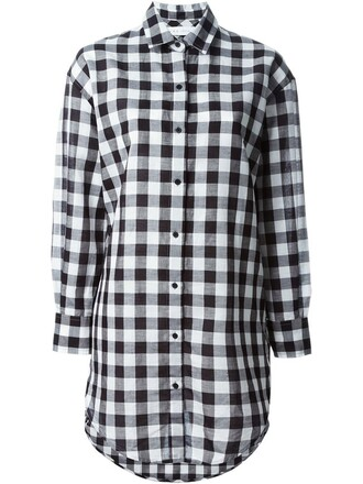 shirt gingham black top