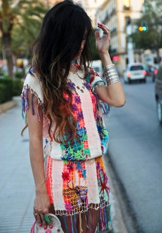 dress romper boho bohemian bohemian dress aztec summer summer dress summer outfits multicolor blouse jumpsuit hippie dress