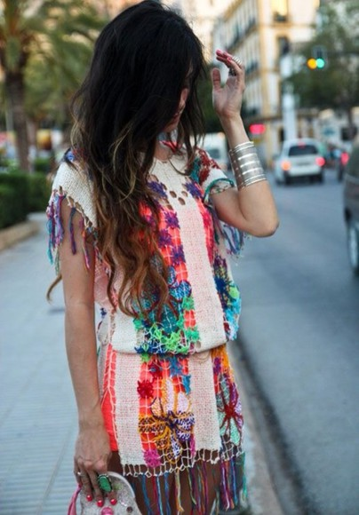 dress blouse summer rihanna aztec summer outfits miley cyrus romper boho bohemian bohemian style bohemian dress boho style beyonce summer dress multi colored