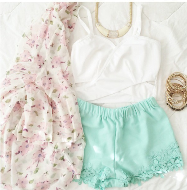 top outfit style sweet flowers kimono spring outfits blouse