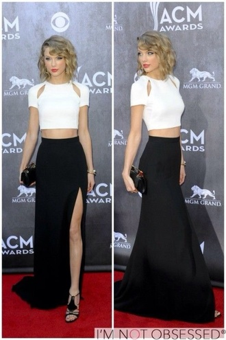 skirt taylor swift blouse white crop tops top