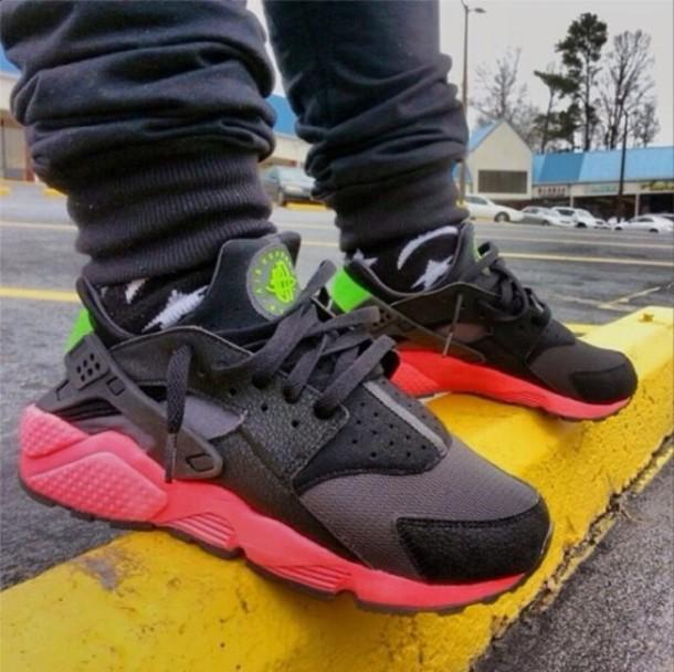 best service a2249 73049 shoes nike air huarache black green huaraches trainers shoes