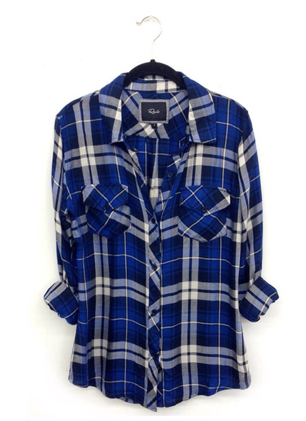 top plaid shirt