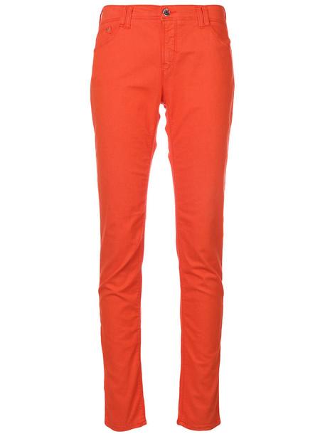 ARMANI JEANS jeans skinny jeans women spandex cotton yellow orange