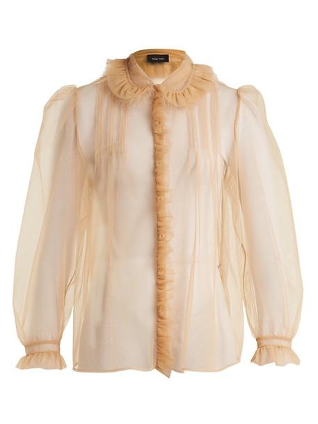 Simone Rocha blouse embellished beige top