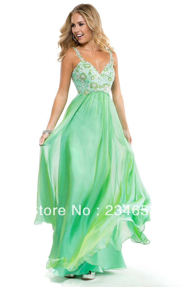 2014 Sexy Coral Empire A line Lace Chiffon Prom Dresses with Low Back Formal Pageant Gown-in Prom Dresses from Apparel & Accessories on Aliexpress.com