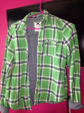 jacket flannel shirt flannel gilly hicks blue green pink checkered back to school fall outfits style spring