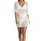 Vitamin a swimwear lucette plunge tunic honeycomb mesh white