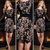 lace pencil dress,lace bodycon dress,lace crochet dress,evening party dress,midi dress,long sleeve dress,long sleeve lace dress,bandage dress,bodycon dress