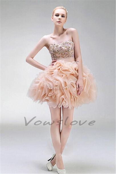 dress, pink ruffle dress, pink homecoming dress, short homecoming ...