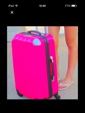 bag suitcase pink