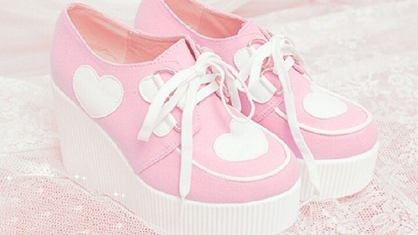 shoes kawaii cute pink white