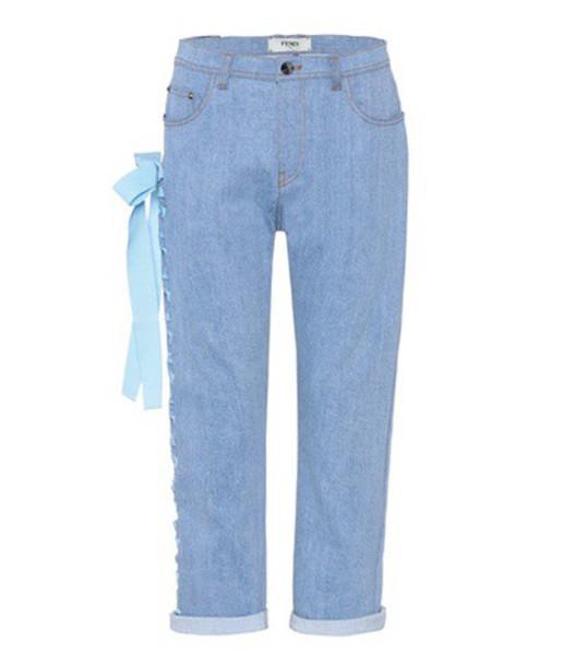 Fendi jeans cropped jeans cropped blue