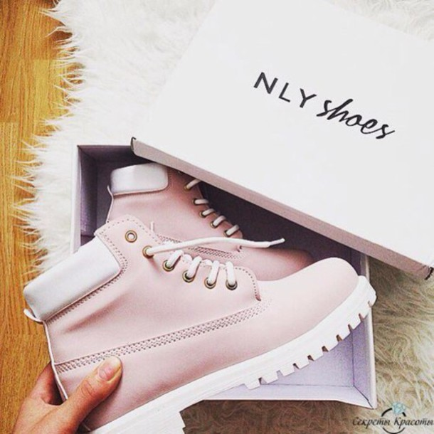 0a68d220ed3ca shoes winter boots pink timberlands white boots winter outfits pink shoes  nly shoes light pink autumn