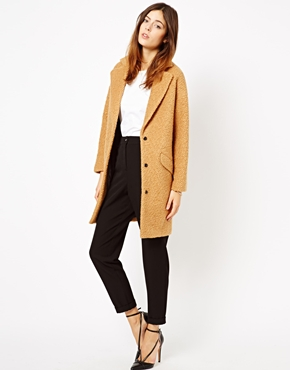 ASOS | ASOS Textured Longline Coat at ASOS