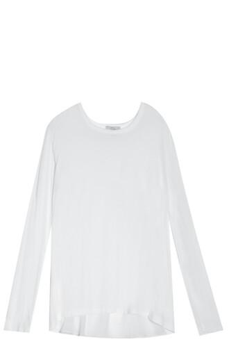 t-shirt shirt back silk white top