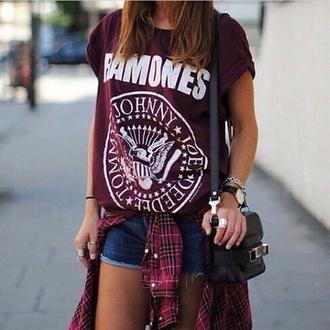 t-shirt ramones bordeaux