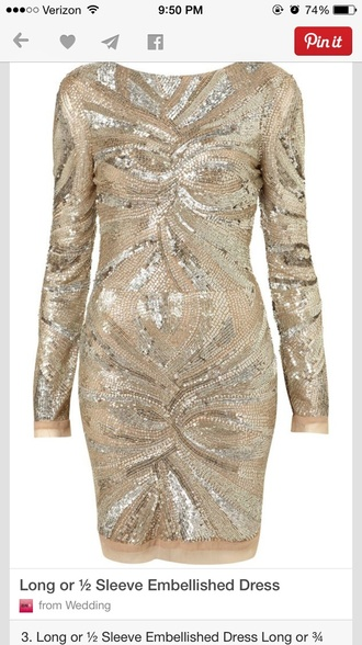 embellished sequin dress gold gold sequins dress holiday dress girly wishlist