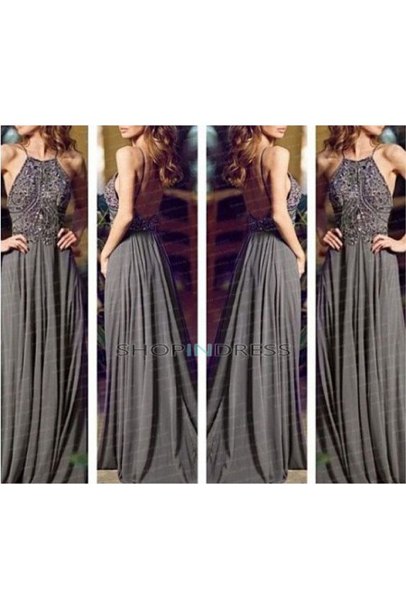 Line gray prom dress uk online