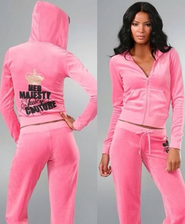 Juicy Couture Her Majesty Velour Tracksuits Jc0039