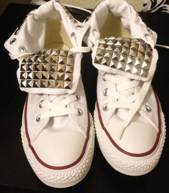 REDUCED From 125 TO75 STUDDED White by 20thcenturydesignsny