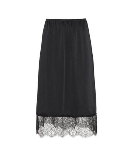 Valentino Lace hem skirt in black